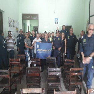 Reunião com a categoria da Guarda Municipal de Maranguape.